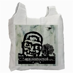 M G Firetested White Reusable Bag (one Side) by holyhiphopglobalshop1