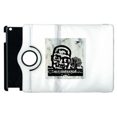 M G Firetested Apple Ipad 3/4 Flip 360 Case by holyhiphopglobalshop1