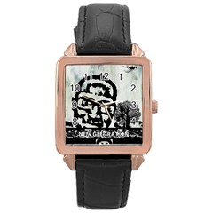 M G Firetested Rose Gold Leather Watch  by holyhiphopglobalshop1