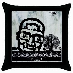 M G Firetested Black Throw Pillow Case by holyhiphopglobalshop1