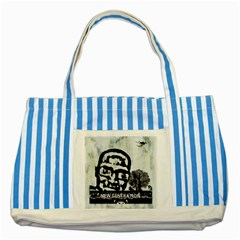 M G Firetested Blue Striped Tote Bag by holyhiphopglobalshop1