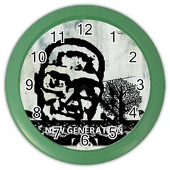 M G Firetested Wall Clock (color)