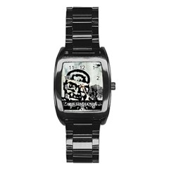 M G Firetested Stainless Steel Barrel Watch by holyhiphopglobalshop1