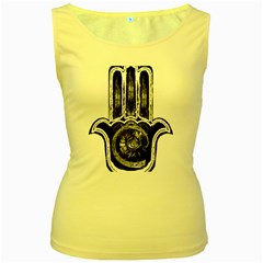 Hamsamusiceyebubblesz Women s Tank Top (Yellow) by OcularPassion