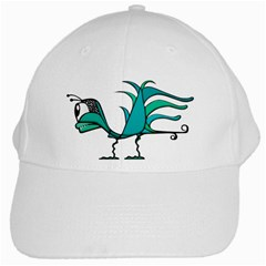 Fantasy Bird White Baseball Cap by dflcprints