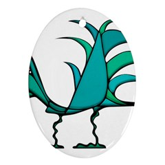 Fantasy Bird Oval Ornament by dflcprints