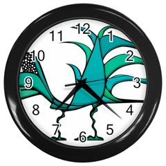 Fantasy Bird Wall Clock (black) by dflcprints