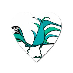 Fantasy Bird Magnet (heart) by dflcprints