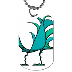 Fantasy Bird Dog Tag (one Sided) by dflcprints