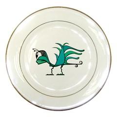 Fantasy Bird Porcelain Display Plate by dflcprints