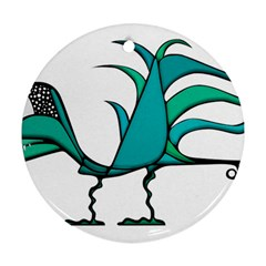 Fantasy Bird Round Ornament (two Sides) by dflcprints