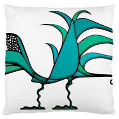 Fantasy Bird Large Cushion Case (two Sided)  by dflcprints