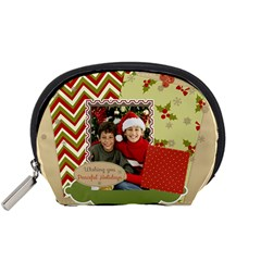 Merry Christmas By Merry Christmas   Accessory Pouch (small)   B155foez1pw6   Www Artscow Com Front