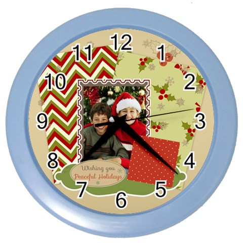 Christmas By Merry Christmas   Color Wall Clock   Shntgx3sg6l5   Www Artscow Com Front
