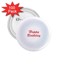 Halftone Circle With Squares 2.25  Button (100 pack) by rizovdesign
