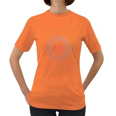 Halftone Circle With Squares Women s T Shirt (colored)