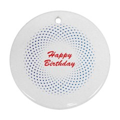 Halftone Circle With Squares Round Ornament (two Sides) by rizovdesign