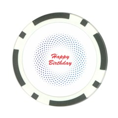 Halftone Circle With Squares Poker Chip by rizovdesign