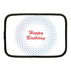 Halftone Circle With Squares Netbook Sleeve (medium) by rizovdesign