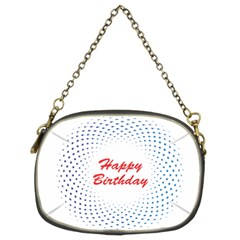 Halftone Circle With Squares Chain Purse (Two Sided)  by rizovdesign