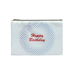 Halftone Circle With Squares Cosmetic Bag (medium) by rizovdesign