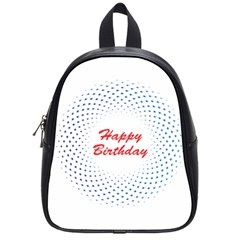 Halftone Circle With Squares School Bag (small) by rizovdesign