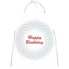 Halftone Circle With Squares Apron by rizovdesign