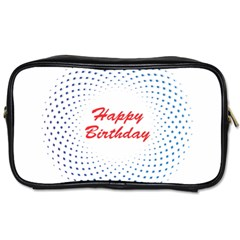 Halftone Circle With Squares Travel Toiletry Bag (two Sides) by rizovdesign