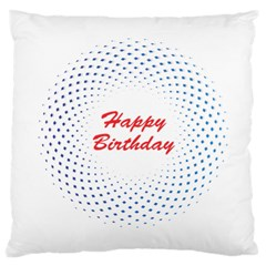 Halftone Circle With Squares Large Cushion Case (two Sided)  by rizovdesign