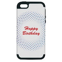 Halftone Circle With Squares Apple Iphone 5 Hardshell Case (pc+silicone) by rizovdesign