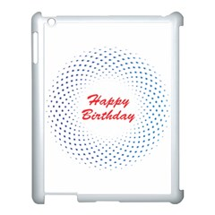 Halftone Circle With Squares Apple Ipad 3/4 Case (white) by rizovdesign
