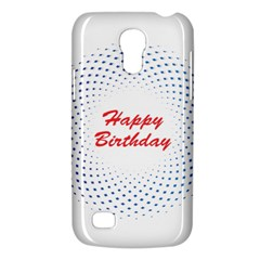 Halftone Circle With Squares Samsung Galaxy S4 Mini (gt I9190) Hardshell Case  by rizovdesign