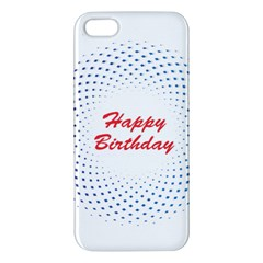Halftone Circle With Squares Iphone 5s Premium Hardshell Case by rizovdesign