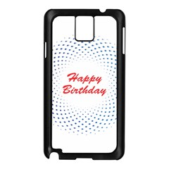 Halftone Circle With Squares Samsung Galaxy Note 3 N9005 Case (black) by rizovdesign
