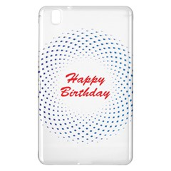Halftone Circle With Squares Samsung Galaxy Tab Pro 8 4 Hardshell Case by rizovdesign