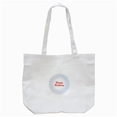 Halftone Circle With Squares Tote Bag (white) by rizovdesign