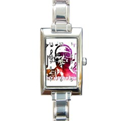 Rectangular Italian Charm Watch by christianhiphopWarclothe
