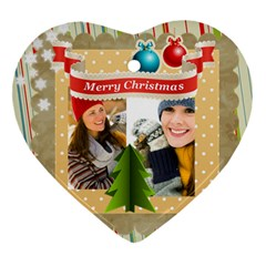 Merry Christmas By Merry Christmas   Heart Ornament (two Sides)   8cbs9mzxeyt3   Www Artscow Com Back