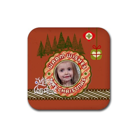 Xmas By Xmas   Rubber Coaster (square)   6vi6ifg1v6jk   Www Artscow Com Front