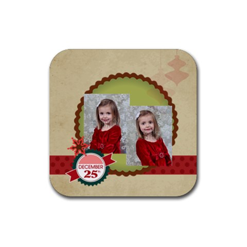 Xmas By Xmas   Rubber Coaster (square)   B0p0p2m5o9qy   Www Artscow Com Front