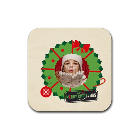 Xmas By Xmas   Rubber Coaster (square)   Wvlqjem4dg57   Www Artscow Com Front