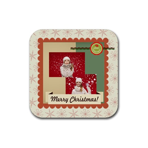 Xmas By Xmas   Rubber Coaster (square)   Dexyedgmy7qs   Www Artscow Com Front