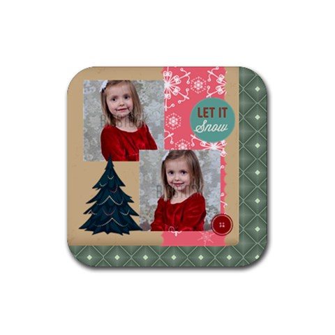 Xmas By Xmas   Rubber Coaster (square)   0ozi8q2ep8v4   Www Artscow Com Front