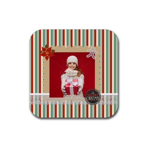 Xmas By Xmas   Rubber Coaster (square)   L2wm295vyfy3   Www Artscow Com Front