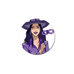 Purple Witch Golf Ball Marker 10 Pack by FunWithFibro