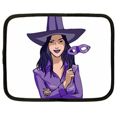 Purple Witch Netbook Sleeve (large) by FunWithFibro
