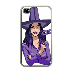 Purple Witch Apple Iphone 4 Case (clear) by FunWithFibro