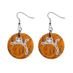 Halloween Fun Earrings - 1  Button Earrings