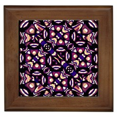 Colorful Tribal Pattern Print Framed Ceramic Tile by dflcprints