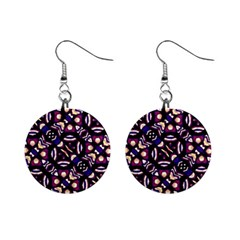 Colorful Tribal Pattern Print Mini Button Earrings by dflcprints